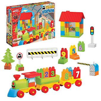 Dede Railway 44 Parts (Toys , Vehicles And Tracks , Parking And Circuits)