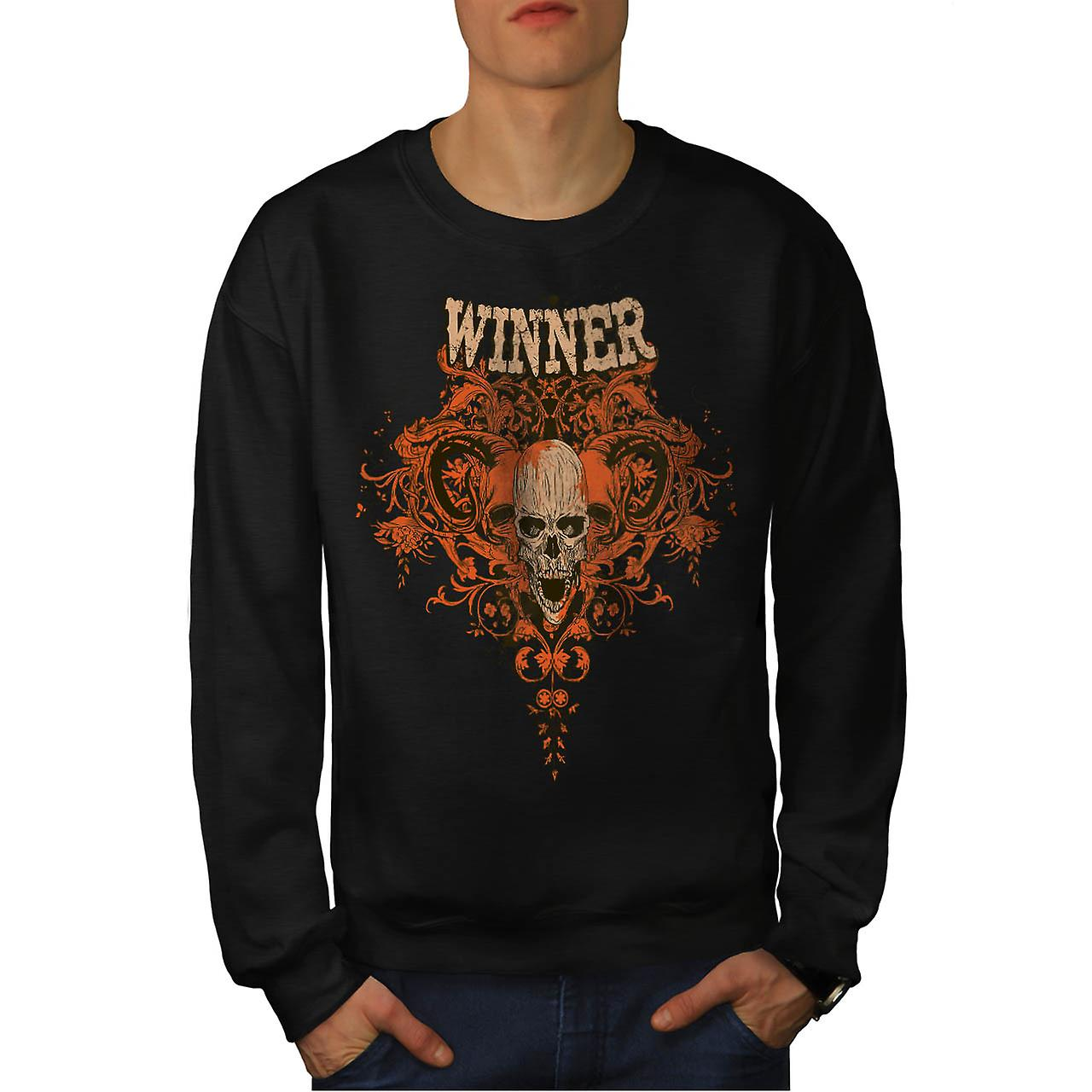 Winner Animal Skull Monster Head Men Black Sweatshirt | Wellcoda