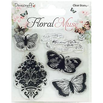 Dovecraft Floral Muse Clear Stamps-Butterfly DCSTP061