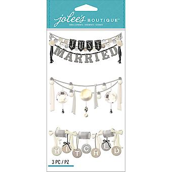 Jolee's Boutique Dimensional Stickers-Wedding Words Garland E5050632