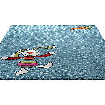 Regenbogen-Kaninchen-Teppich In blau 0523 01