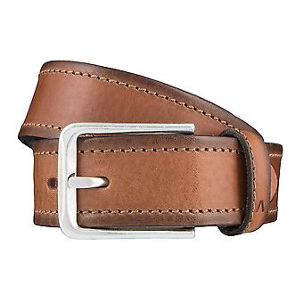 ALBERTO stitch mens belt belts leather belt Brown 3865