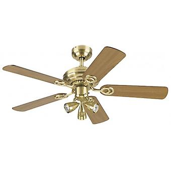 Westinghouse Ceiling Fan Apollo Metro Plus matt Messing 105 cm/42