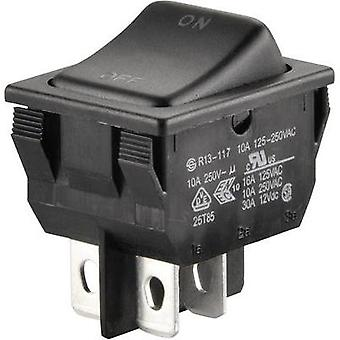 Toggle switch 250 Vac 10 A 1 x Off/On SCI R13-117A-01 latch 1 pc(s)