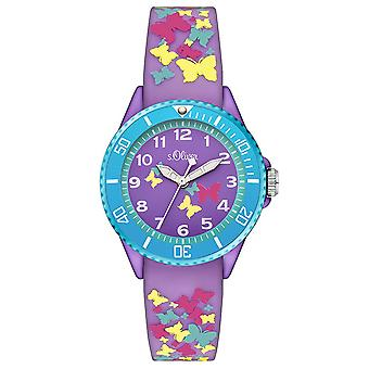 s.Oliver silicone band watch kids SO-3273-PQ