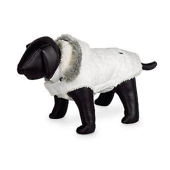 Nobby Polar Dog Coat White With Hood 29cm