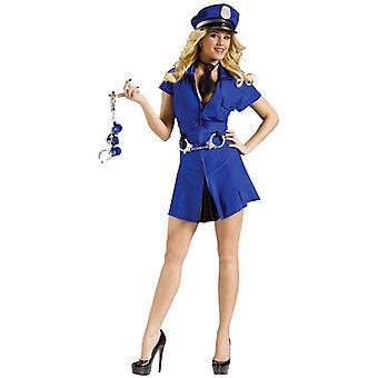 Kvinde politibetjent Cop Uniform Happy Hour Deluxe kvinders kostume