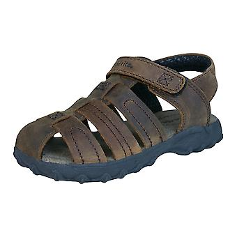 Stride Rite Hudsen Boys Leather Sandals - Brown