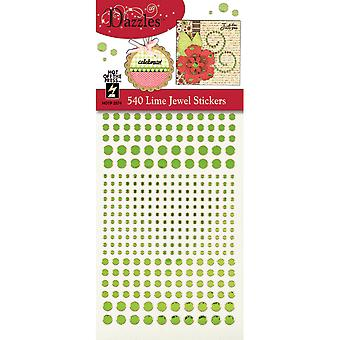 Dazzles Stickers-Jewel-Lime DAZ-2574