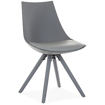 Superstudio Silla Allis Grey -Cojín Pu--Gris Claro