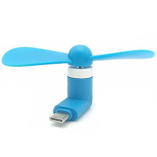 ONX3 (Blue) Mobile Cell Phone Portable Pocket Sized Fan Accessory Type C Connector For Meizu Pro 7