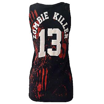 Darkside - ZOMBIE KILLER 13 - Womens Ribbed Vest Top - Black