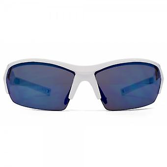 Sturm Achird Sonnenbrille In Polished White/Black & Eisblau Spiegel