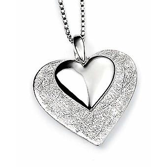 925 Silver Necklace Heart Pendant Necklace