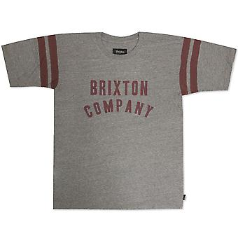 Brixton Barstow T-Shirt Heather Grey