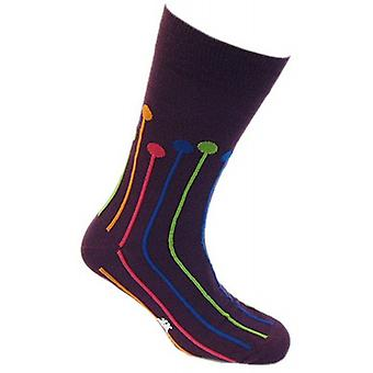 Tyler and Tyler Dropspot Socks - Purple