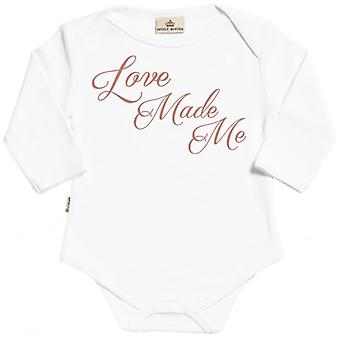 Spoilt Rotten Love Made Me Long Sleeve Organic Baby Grow