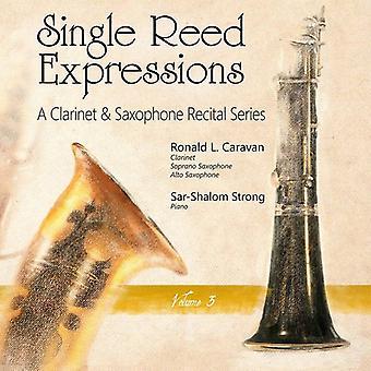 Brahms / Debussy / Hartley / campingvogn / Strong - enkelt Reed udtryk: A klarinet & Sax V3 [CD] USA import