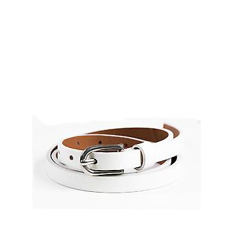 Penrith Thin Leather Belt in White