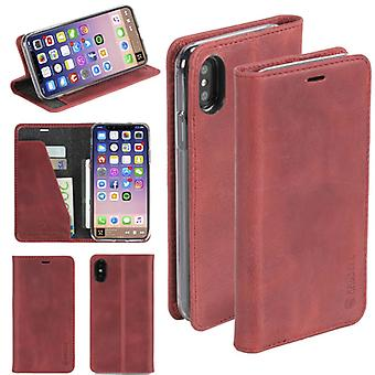 Krusell Sunne Leather Folio case for Apple iPhone X 5.8 leather case protector cover Red