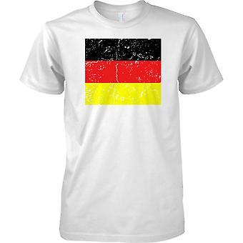 Deutschland verzweifelt Grunge Effekt Flaggendesign - Kinder T Shirt
