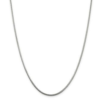 Sterling Silver Polished Lobster Claw Closure 2mm Round Snake Chain Necklace - Lobster Claw - Length: 16 to 30