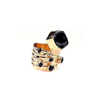 The Fashion Bible Retro Vintage Style Ring In Black