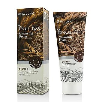 3w Clinic Cleansing Foam - Brown Rice - 100ml/3.38oz