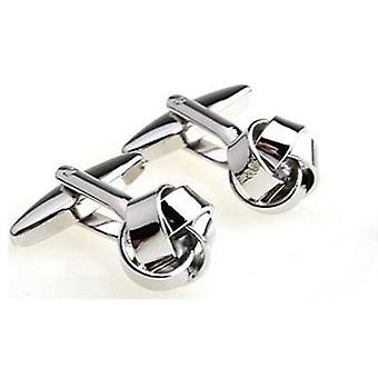 English Fashion Stainless Steel Knot Cufflinks