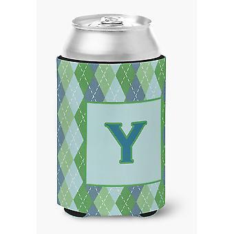 Письмо Y начальной вензель - синий Argoyle может или бутылки напитков изолятор Hugger