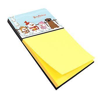 Merry Christmas Carolers Mastiff Brindle Sticky Note Holder