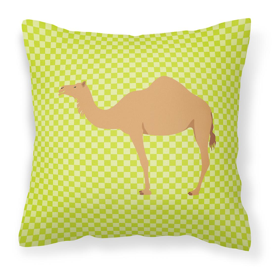 Arabian chameau dromadaire tissu vert oreiller décoratif