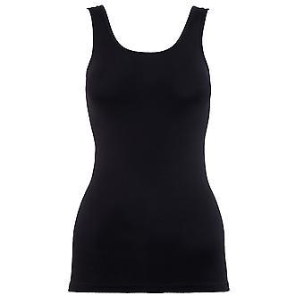 BlackSpade Essential Black Cotton Singlet Vest Top 1950