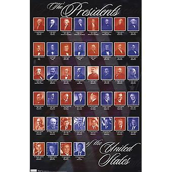 Presidents of the United States of America Poster Poster Print