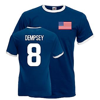 Clint Dempsey Usa Ringer Tee (navy)