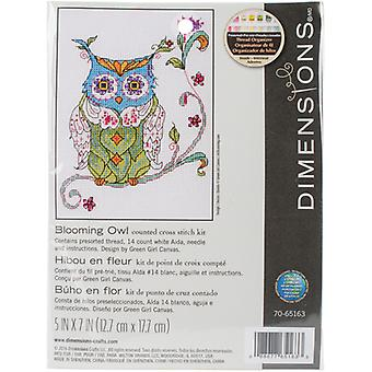 Blooming Owl Counted Cross Stitch Kit-5