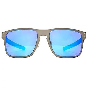 Oakley Holbrook Metal Sunglasses In Matte Gunmetal Prizm Sapphire Polarised