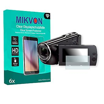 Sony HDR-CX240E Screen Protector - Mikvon Clear (Retail Package with accessories)