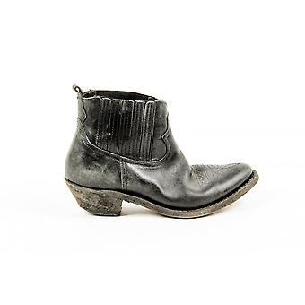 Golden Goose Kvinnors svart kalv läder Ankle Boot