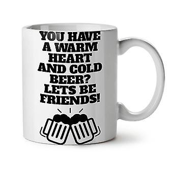 Cold Beer Friends Funny NEW White Tea Coffee Ceramic Mug 11 oz | Wellcoda