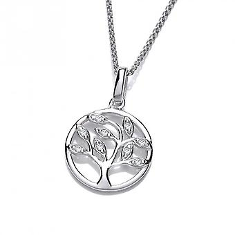 Cavendish French Silver and CZ Mini Tree of Life Pendant without Chain