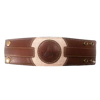 Assassins Creed Wristband Origins Embossed Icon logo new Official PS4 Xbox Brown