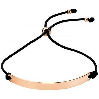 Beginnings Engravable Bar Toggle Bracelet - Black/Rose Gold