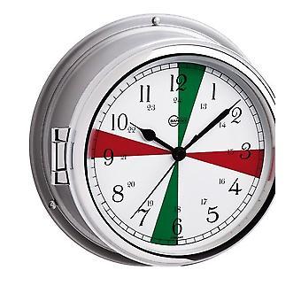 Barigo marine porthole quartz ship clock radio sectors 587CREDFS