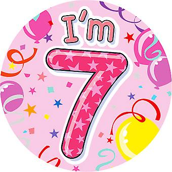 Expression Factory Childrens Girls I Am 7 Today Giant Badge