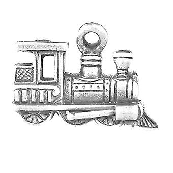Packet 10 x Antique Silver Tibetan 15mm Train Charm/Pendant ZX00190
