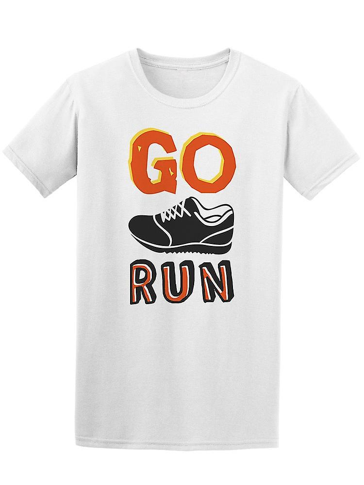 Go Run Shoe Doodle by Tee Men's -Image by Doodle Shutterstock d51174