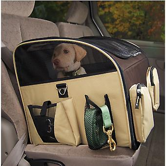 VALENTINA VALENTTI LUXURY DOG CAT PUPPY PET CAR SEAT CARRIER L SIZE BROWN