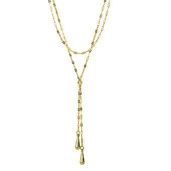 14 k gul guld Lariet Teardrop Mariner halskæde 17