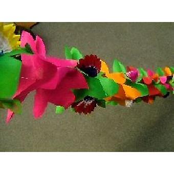 Dekorasjon 'Blomst' med Honeycomb assorterte farger Garland